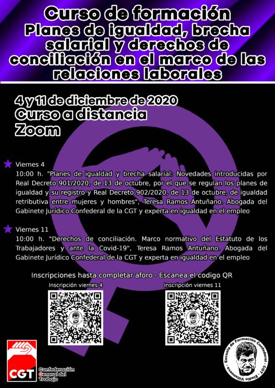"""""""Planes de igualdad, brecha salarial y derechos de conciliación en el marco de las relaciones laborales"""""""