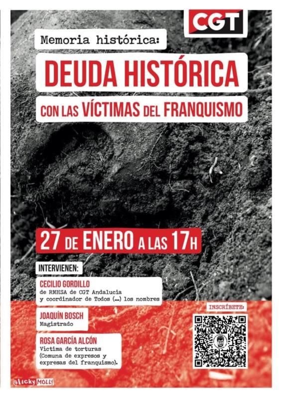 Deuda HistóriMemoria histórica: Deuda histórica con las víctimas del Franquismoca